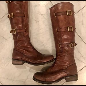 Vince Camuto tall brown riding boots